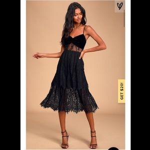 Lulus Touch of Magic Lace midi dress